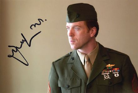 Damian Lewis, Homeland, signed 12x8 inch photo.
